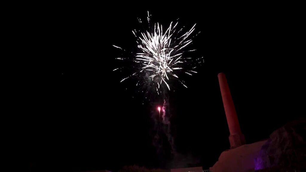Firework Show on Music Santorini Festival [Part 1]