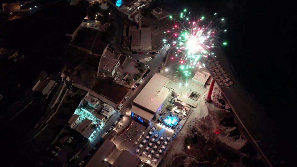 Firework Show on Music Santorini Festival [Part 2]
