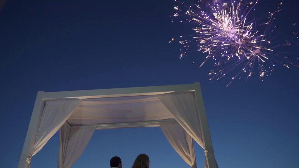 Santorini Μarriage Fireworks at Caldera