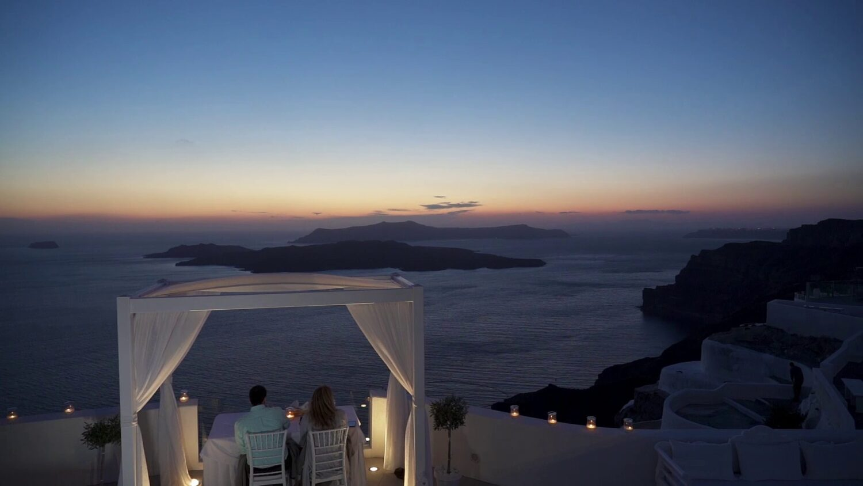 Santorini marriage fireworks - 2