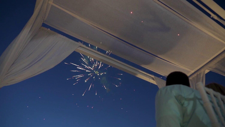Santorini marriage fireworks - 3