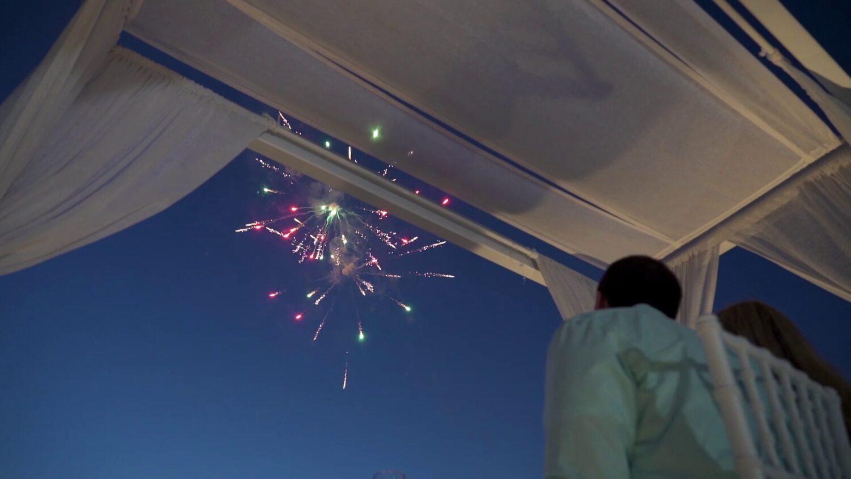 Santorini marriage fireworks - 4