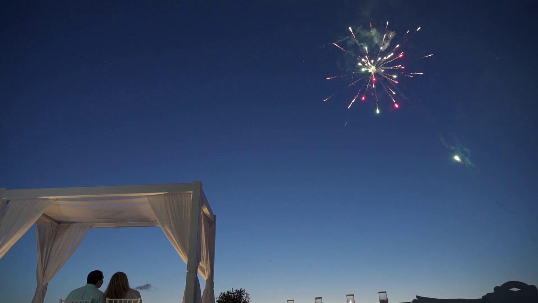 Santorini marriage fireworks - 5